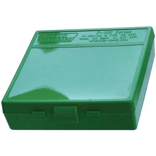 2 MTM PLASTIC AMMO BOX 45 ACP FREE SHIPPING BLACK 100 Round 40 S/&W GREEN
