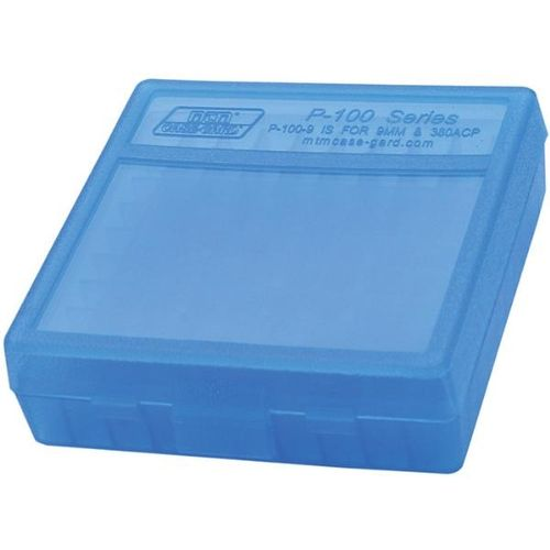 MTM Case-Gard P-100-9 Handgun Ammo Box for 100 Rounds of  380-9mm