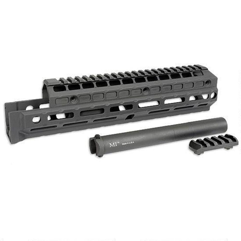 Midwest Industries Gen 2 AK-47/AK-74 Extended Hand Guard M-LOK Compatible  Aluminum Matte Black MI-AKXG2-U
