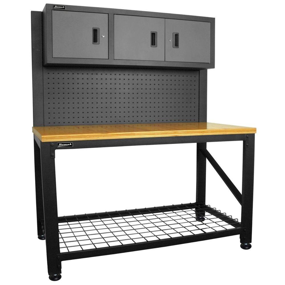 Incredible Homak Reloading Workbench Bench 59 3 Dr Ammo Workstation Machost Co Dining Chair Design Ideas Machostcouk