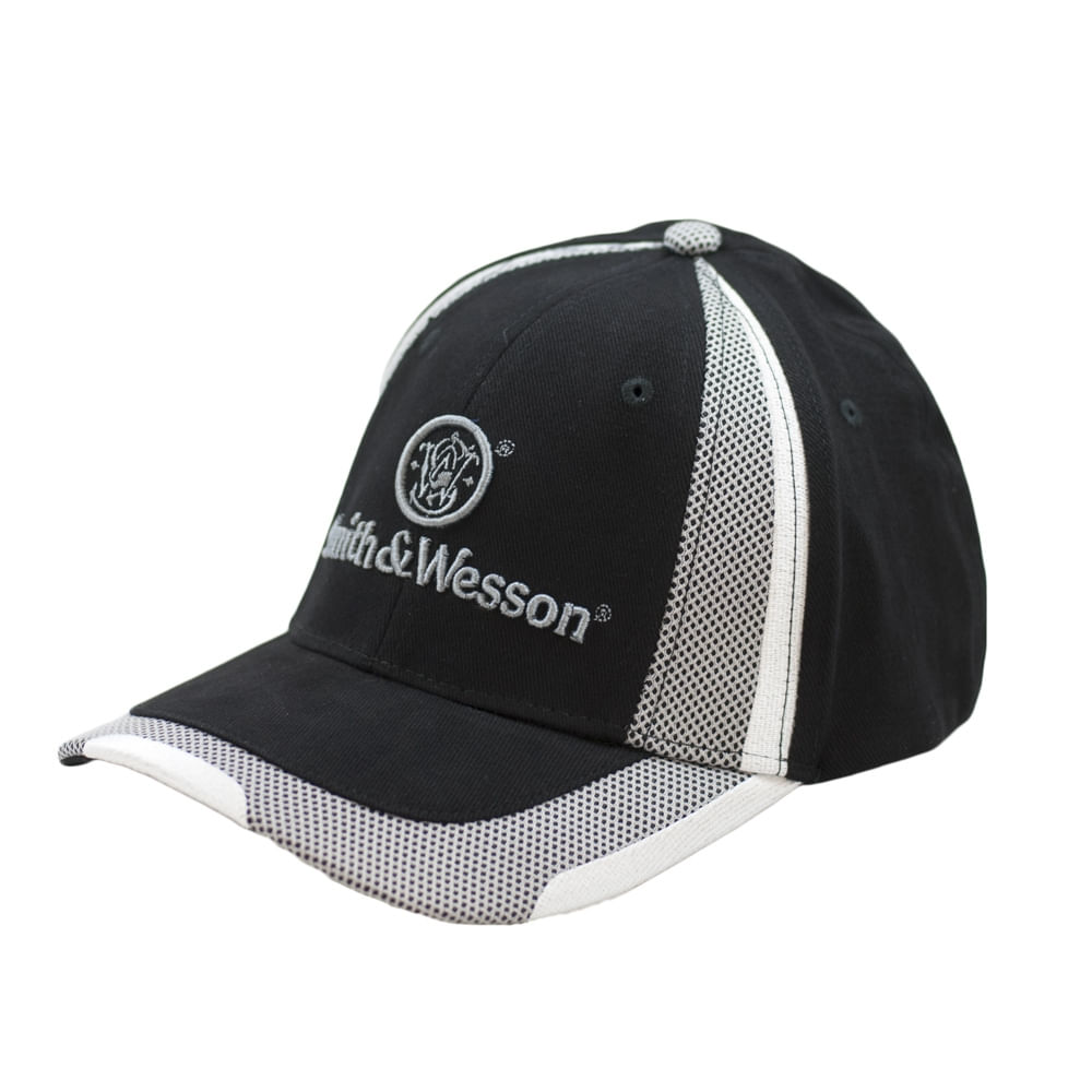 6e5f2886b Smith and Wesson Black & White Stretc Fit Logo Hat