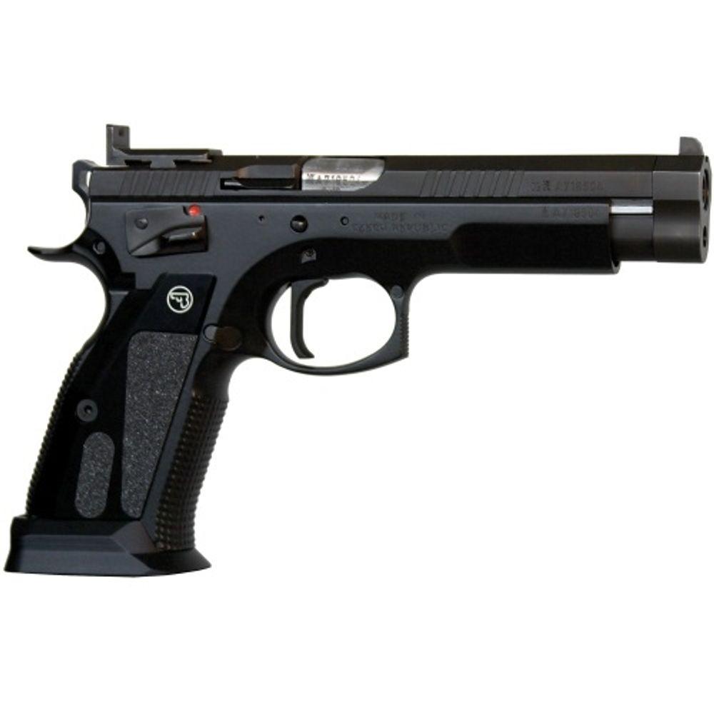 CZ USA - CZ 75 TS CzechMate Pistol 9mm 5 4in 20rd 26rd Black - 91174