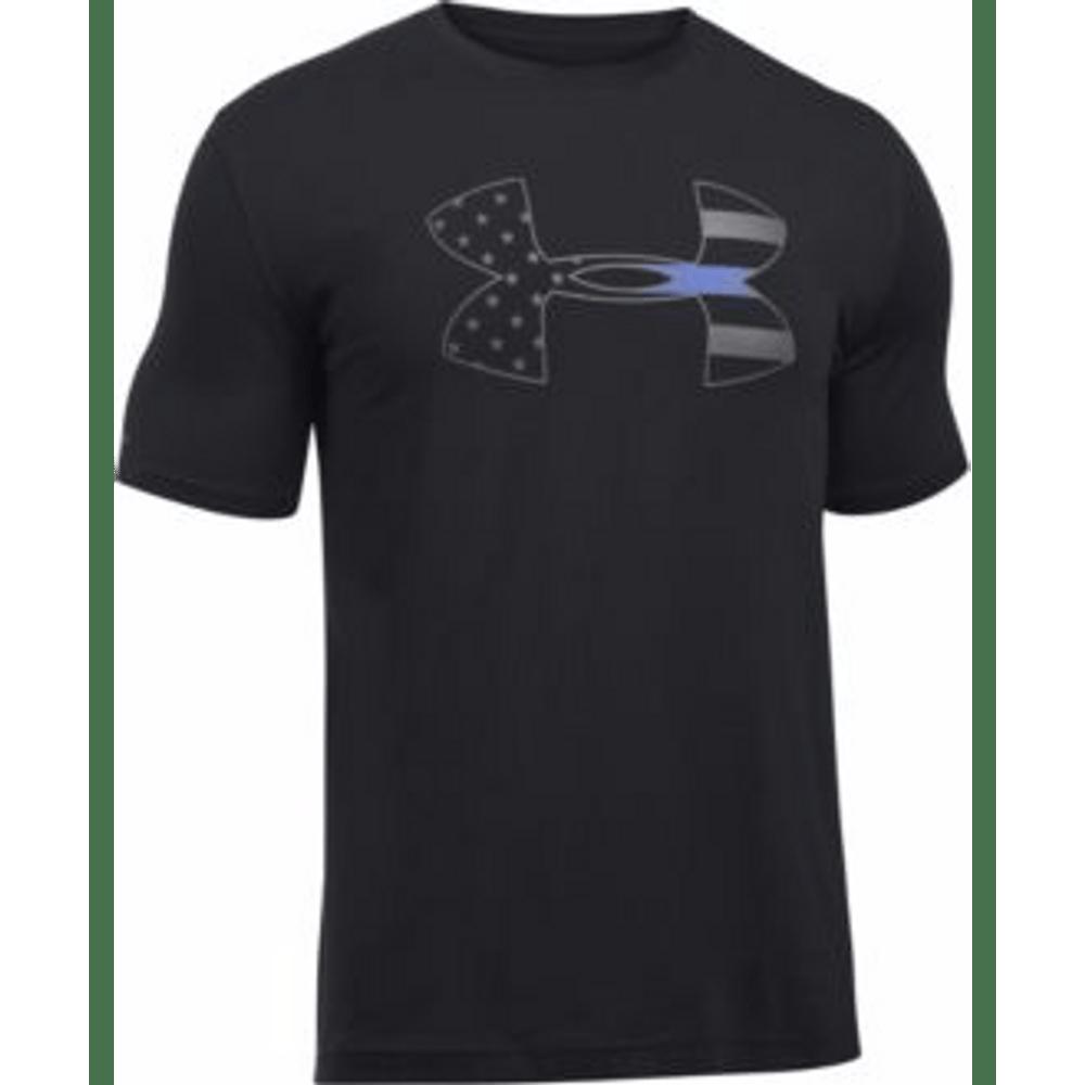 e958aece0 Under Armour Men's Police Thin Blue Line Short Sleeve Shirt 1291229 ...