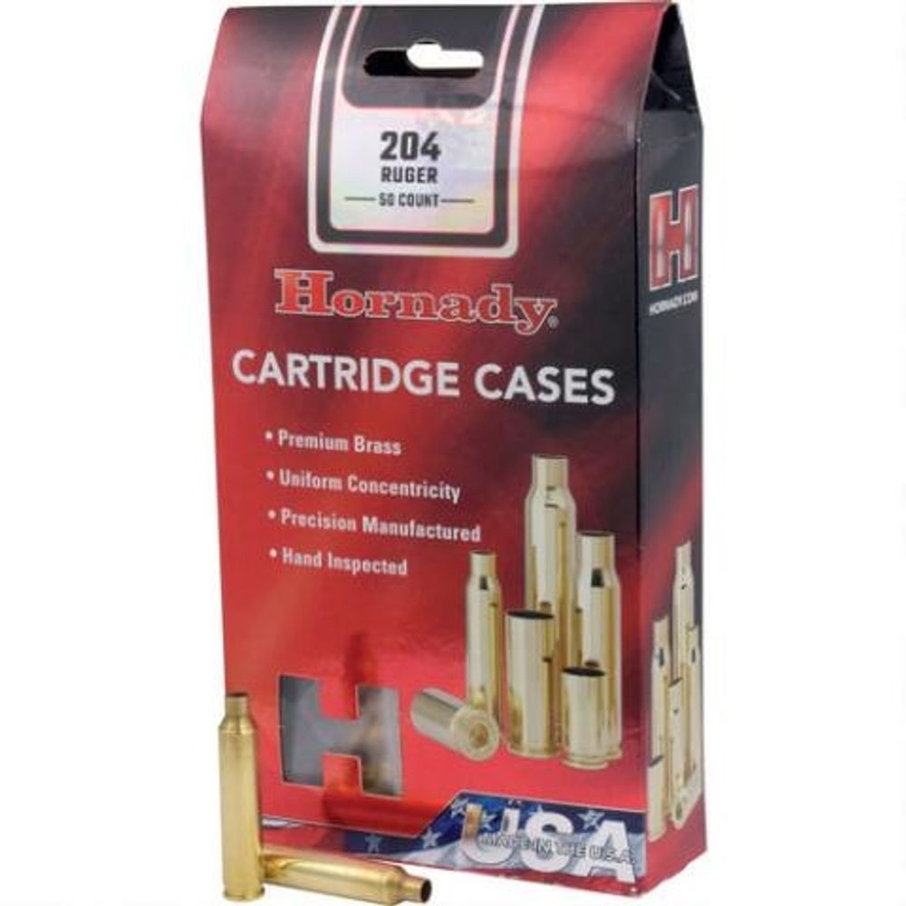 Hornady Reloading Components 9mm Luger New Unprimed Brass Cartridge Cases  200 Count 8720