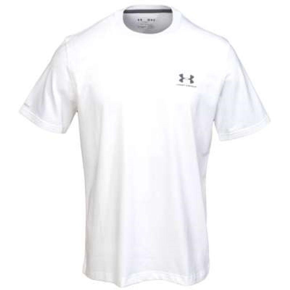 8e0e1c8d Under Armour Shirts: Men's Charged Cotton White Sportstyle Logo Tee Shirt.  1257616-100-2