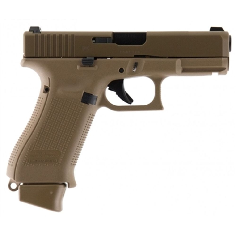 Blue Label Glock 19X Gen 5 Coyote Brown 9mm 17+2 G19 Pistol with