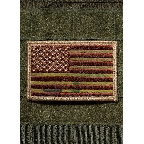 9 Line Camo American Flag Patch - PATCH-CLOTH-USFLAG-MULTICAM - DEGuns 047d2484579