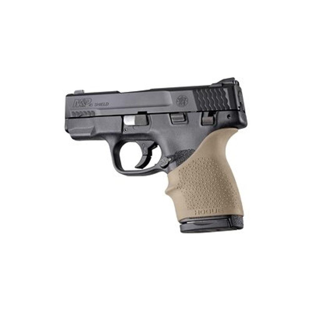 Hogue HandAll Beavertail Grip Sleeve S&W M&P Shield  45/Kahr P9/40 CW9/40  Rubber FDE 18303