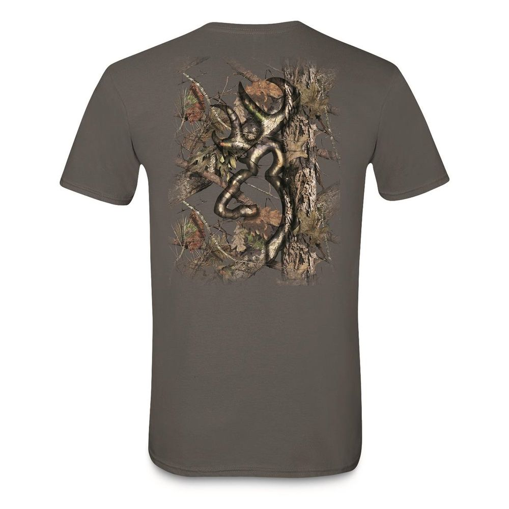 630ee7ef08e Browning Men s Background Camo Buckmark T-Shirt - Charcoal. A0003253001- ...
