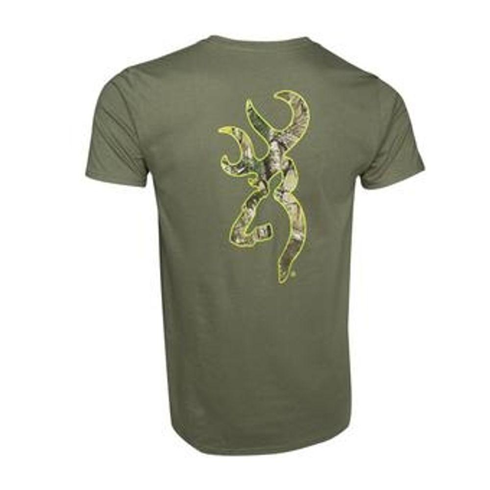 Men/'s Browning t-shirt Short Sleeve Green Realtree Size Medium NWT
