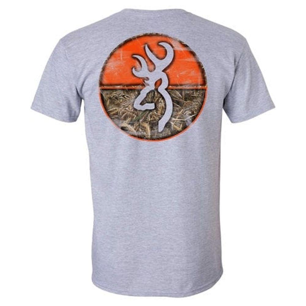 b71514aee75b6 Browning Men's Realtree Max 5 Circle T-Shirt - Sport Grey. A0003251001- ...