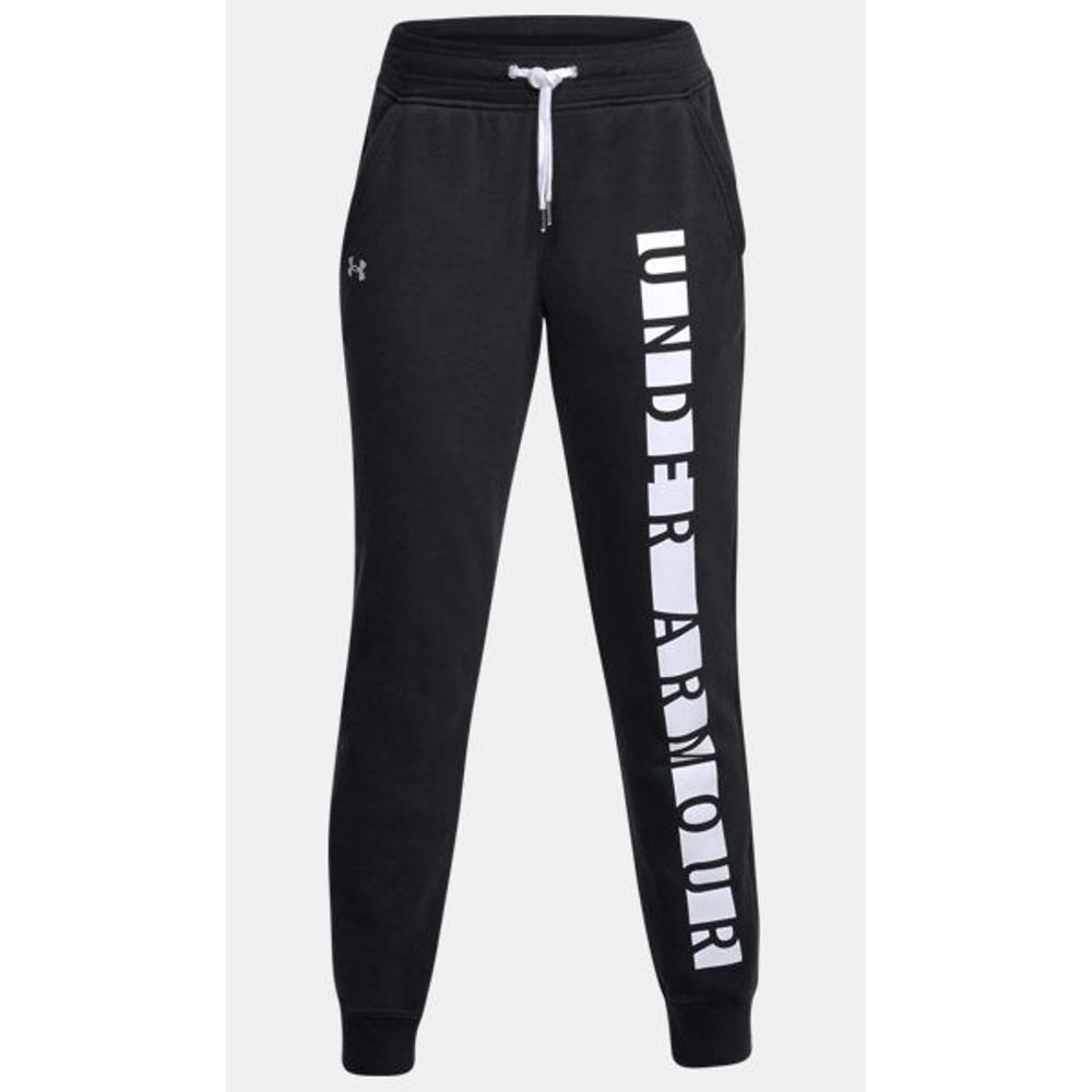 dbfb0eeda Under Armour Women's Favorite Fleece Graphic Pants - Black/White.  1310194-001- ...
