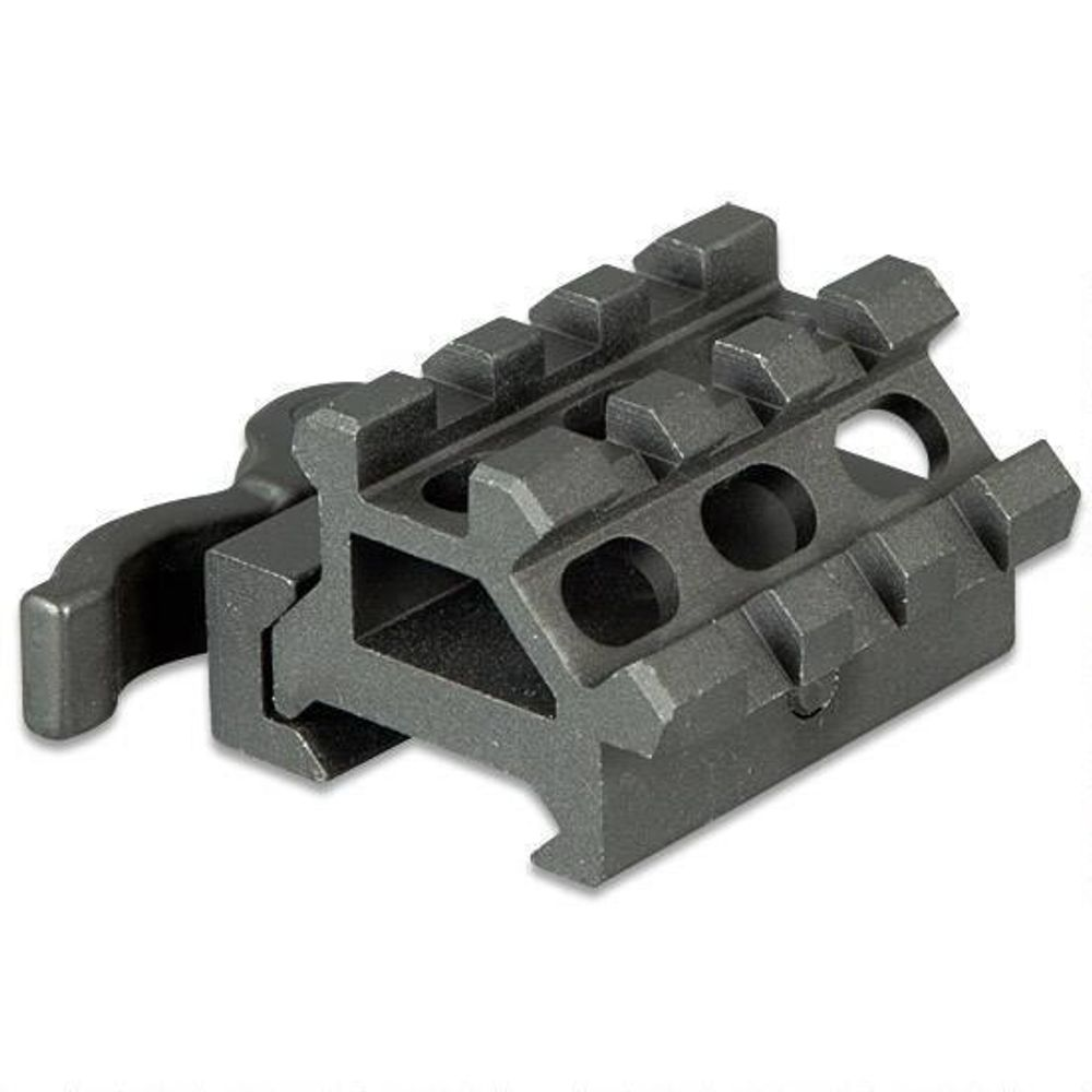 Leapers UTG MAD0340 Black Quick Release Double Picatinny Rail/ 3 Slot Angle  Mount Picatinny