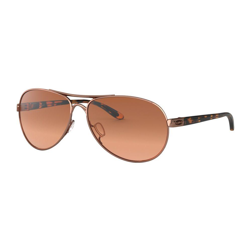 34cb45c3fd Oakley Oo4079-01 Feedback Rose Gold Tortoise Brown Gradient Womens  Sunglasses. 1 ...