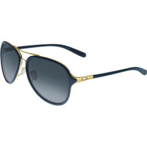 c79a564074 Oakley Women s Gradient Kickback Oo4102-03 Blue Aviator Sunglasses - DEGuns