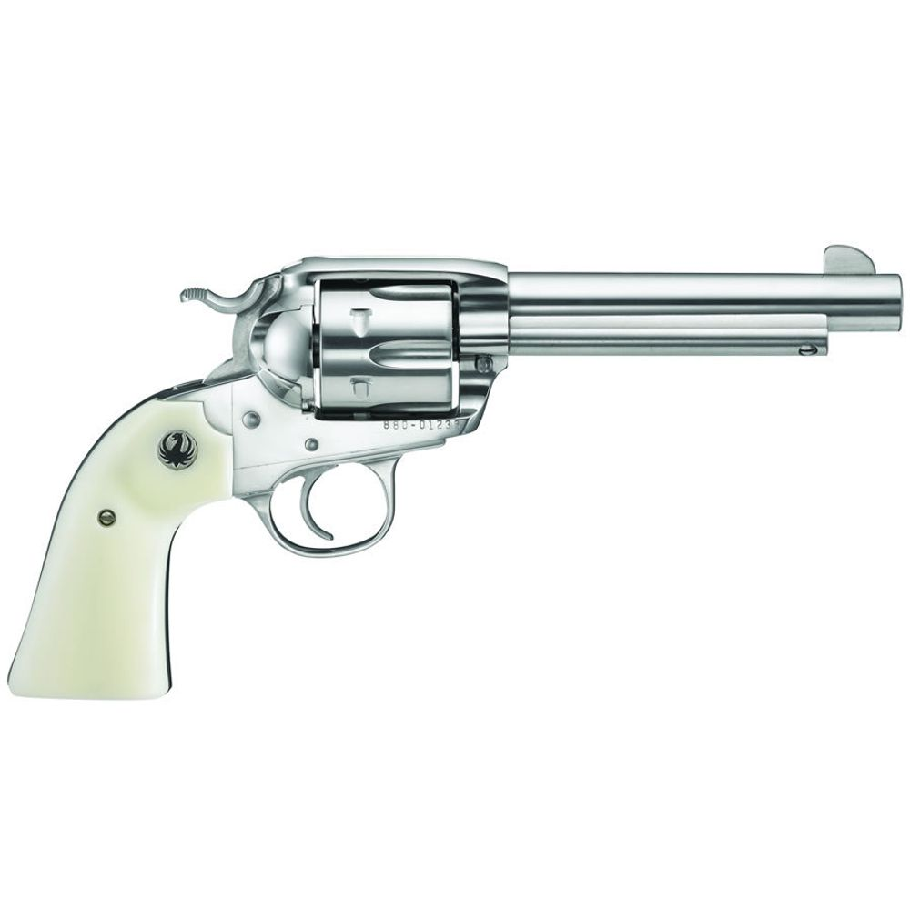 Ruger 5129 Bisley Vaquero Revolver  45 LC 5 5in 6rd Stainless Ivory